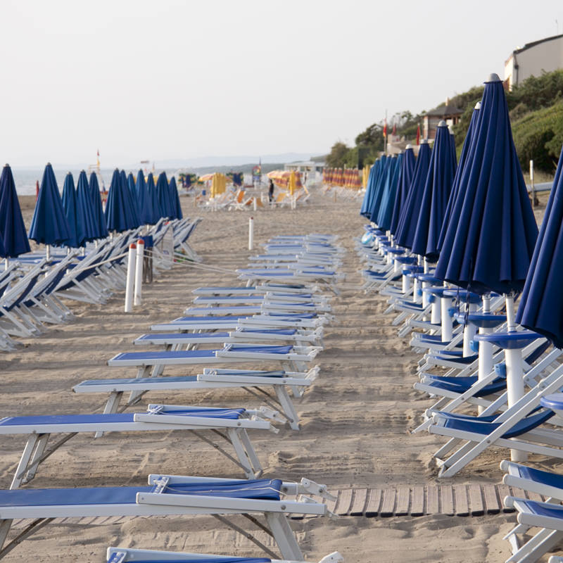 Sunbeds on the beach